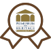 Image of a ribbon with the PEI Museum and Heritage Foundation logo inside it
